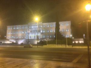 das Parlamentsgebäude am Syntagmaplatz